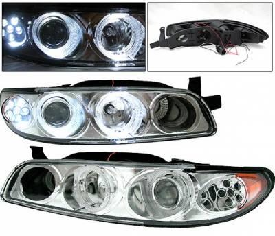 4 Car Option - Pontiac Grand Prix 4 Car Option Projector Headlights - Chrome - LP-PGPX97CC-1