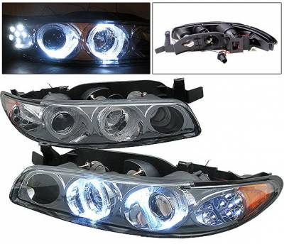 4 Car Option - Pontiac Grand Prix 4 Car Option Projector Headlights - Smoke - LP-PGPX97SM-1