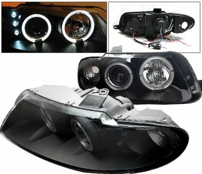 4 Car Option - Pontiac GTO 4 Car Option Halo Projector Headlights - Black - LP-PGTO04BC-YD