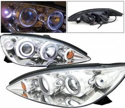 4 Car Option - Toyota Camry 4 Car Option Dual Halo Projector Headlights - Chrome - LP-TCA00C