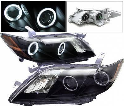 4 Car Option - Toyota Camry 4 Car Option Halo Projector Headlights - Black CCFL - LP-TCA07BC-KS