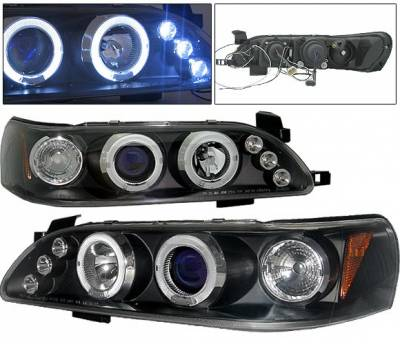 4 Car Option - Toyota Corolla 4 Car Option LED Halo Projector Headlights - Black - 1PC - LP-TCL93BC-5