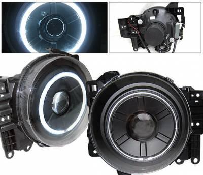4 Car Option - Toyota FJ Cruiser 4 Car Option Halo Projector Headlights - Black CCFL - LP-TFJ07BB-KS
