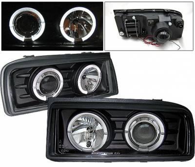 4 Car Option - Volkswagen Corrado 4 Car Option Halo Projector Headlights - Black - LP-VC90BC-YD