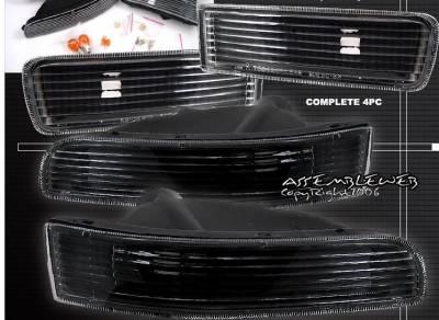 Custom - Euro Black Bumper Lights
