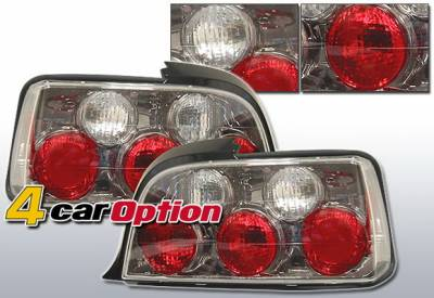 4 Car Option - BMW 3 Series 2DR 4 Car Option Altezza Taillights - Gunmetal - LT-B362G-YD