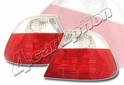 4 Car Option - BMW 3 Series 2DR 4 Car Option Euro Taillights - Red & Clear - LT-B462-KS