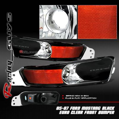 Custom - Black Clear Amber Turn Signal Lights