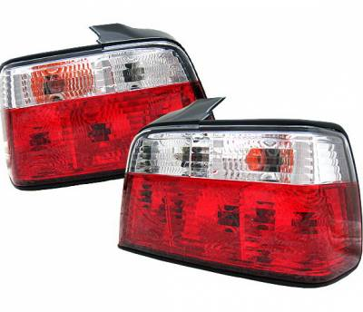 4 Car Option - BMW 3 Series 4 Car Option Taillights - Red & Clear - LT-BE36RC-9
