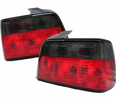 4 Car Option - BMW 3 Series 4 Car Option Taillights - Red & Smoke - LT-BE36RSM-9