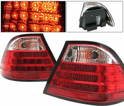 4 Car Option - BMW 3 Series 2DR 4 Car Option LED Taillights - Red & Clear - 4PC - LT-BE46992LEDRC