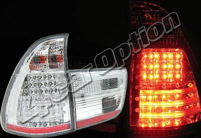 4 Car Option - BMW X5 4 Car Option LED Taillights - Chrome - LT-BE5300LEDC-YD