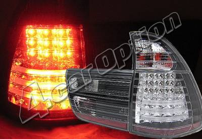 4 Car Option - BMW X5 4 Car Option LED Taillights - Black - LT-BE5300LEDJB-YD