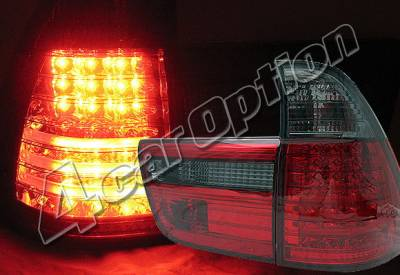 4 Car Option - BMW X5 4 Car Option LED Taillights - Red & Smoke - LT-BE5300LEDRSM-YD
