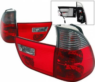 4 Car Option - BMW X5 4 Car Option Euro Taillights - Red & Smoke - LT-BE5300RSM-9