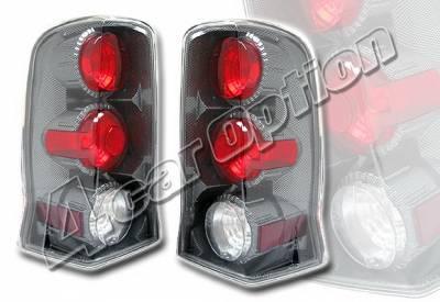 4 Car Option - Cadillac Escalade 4 Car Option Altezza Taillights - Carbon Fiber Style - LT-CAE02F-YD