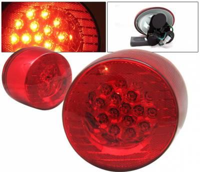 4 Car Option - Chevrolet Cobalt 4 Car Option LED Taillights - Red & Clear - LT-CCBT05LEDRC-KS