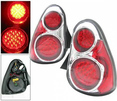 4 Car Option - Chevrolet Monte Carlo 4 Car Option LED Taillights - Chrome - LT-CMC00LEDC-DP
