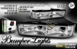 Custom - Chrome Sealed Beam Bumper Lights