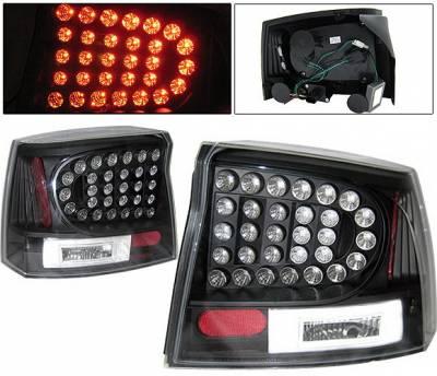 4 Car Option - Dodge Charger 4 Car Option LED Taillights - Black - LT-DCHAR06LEDJB-KS