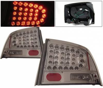 4 Car Option - Dodge Charger 4 Car Option LED Taillights - Smoke - LT-DCHAR06LEDSM-KS