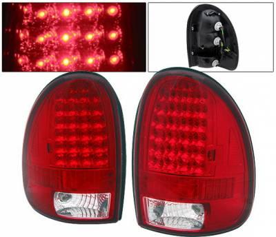 4 Car Option - Dodge Durango 4 Car Option LED Taillights - Red & Clear - LT-DD97LEDRC-9