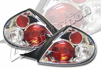 4 Car Option - Dodge Neon 4 Car Option Altezza Taillights - Chrome - LT-DN00A-YD