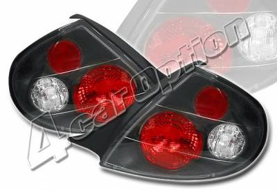 4 Car Option - Dodge Neon 4 Car Option Altezza Taillights - Black - LT-DN00JB-YD
