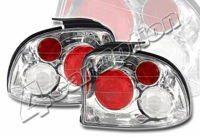 4 Car Option - Dodge Neon 4 Car Option Altezza Taillights - Chrome - LT-DN954A-YD