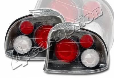 4 Car Option - Dodge Neon 4 Car Option Altezza Taillights - Carbon Fiber Style - LT-DN954F-YD