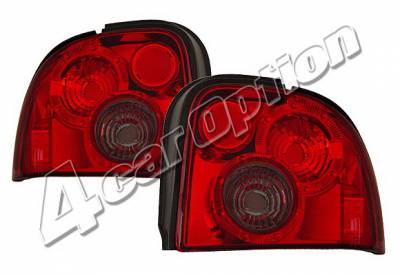 4 Car Option - Dodge Neon 4 Car Option Taillights - Red & Smoke - LT-DN95RSM-KS