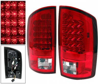 4 Car Option - Dodge Ram 4 Car Option LED Taillights - Red - LT-DR02LEDR