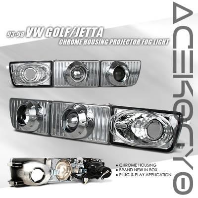 Custom - Chrome Projector Fog Lights