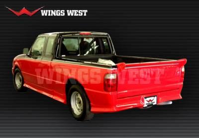 VIS Racing - Ford Ranger VIS Racing W-Type Rear Roll Pan - 490191