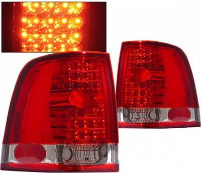4 Car Option - Ford Expedition 4 Car Option LED Taillights - Red & Clear - LT-FE03LEDRC-KS