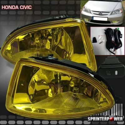Custom - JDM  Yellow Bumper  Fog Lights