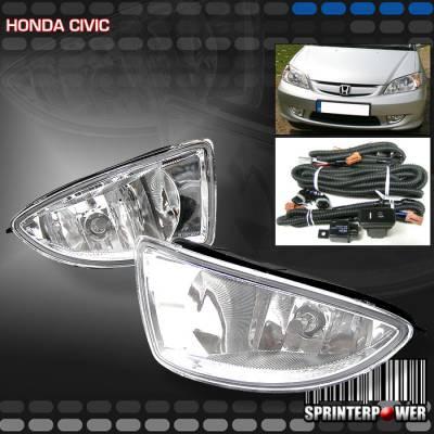 Custom - JDM  White   Fog Lights