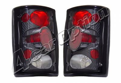 4 Car Option - Ford Excursion 4 Car Option Taillights - Carbon Fiber Style - LT-FEC00CF-KS