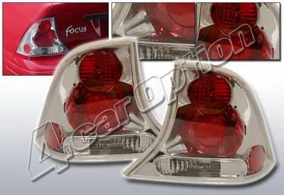 4 Car Option - Ford Focus 4DR 4 Car Option Altezza Taillights - Gunmetal - LT-FF004G-KS
