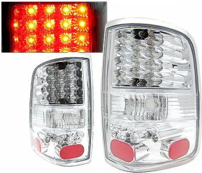 4 Car Option - Ford F150 4 Car Option LED Taillights - Chrome - LT-FF15004LEDC-KS
