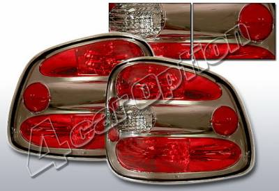 4 Car Option - Ford F150 4 Car Option Altezza Taillights - Gunmetal - LT-FF97FB-KS