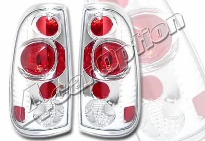 4 Car Option - Ford F150 4 Car Option Altezza Taillights - Chrome - LT-FF97SA-KS