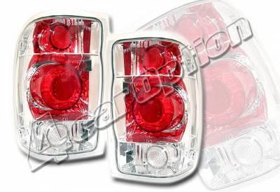 4 Car Option - Ford Ranger 4 Car Option Altezza Taillights - Chrome - LT-FR98A-KS