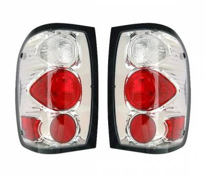 4 Car Option - Ford Ranger 4 Car Option Altezza Taillights - Chrome - LT-FR98A-YD