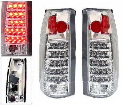 4 Car Option - GMC C10 4 Car Option LED Altezza Taillights - Chrome - LT-GC88AC-LED