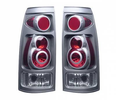 4 Car Option - GMC CK Truck 4 Car Option 3D Style Taillights - Titanium - LT-GC88DT-9