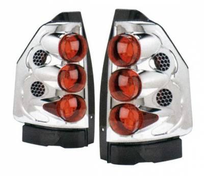 4 Car Option - GMC Envoy 4 Car Option Altezza Taillights - Chrome - LT-GE02A-KS