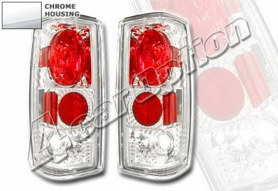 4 Car Option - Chevrolet S10 4 Car Option Altezza Taillights - Chrome - LT-GS82A-YD