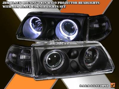 Custom - JDM Black Pro Headlights With Corner Lights