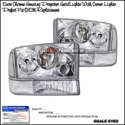Custom - Euro Chrome Pro Headlights With Corner Lights